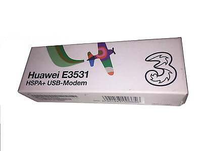 Three/Huawei 3G/21 Mbps Unlocked E3531 High Speed USB Portable Dongle Modem