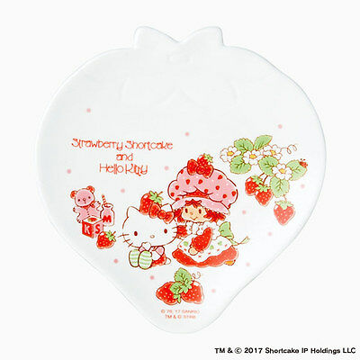 Hello kitty x Strawberry Shortcake Dish Plate Limited series From Japan