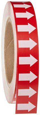 """1"""" Width 90 Length High Performance Vinyl White On Red Or Arrow Tape"""