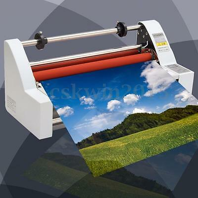 220V 700W Laminator Hot/Cold Double Side Roll Laminating Machine Four Rollers