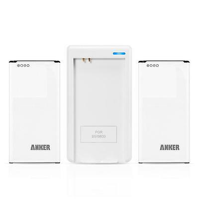 Anker Batteries for Samsung Galaxy S5, 2 x 2800mAh with Travel Charger