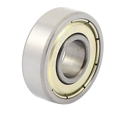 Metal Mute Deep Groove Sealed Shielded Ball Bearing Silver Tone 10mmx26mmx8mm