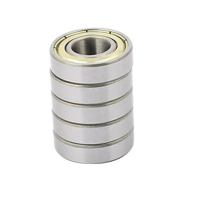 5pcs 6900ZZ Metal Deep Groove Sealed Shielded Ball Bearing Silver Tone 10x22x6mm