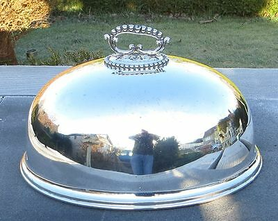 """Vintage Silver Plated Mappin & Webb Prince's Plate Meat Dome / Food Cover 14"""""""