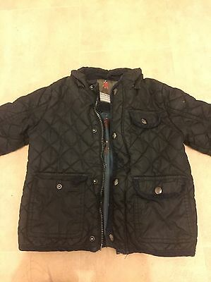 Boys Quilted Coat Age 3-4 Years