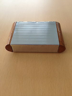 Chrome and wooden box