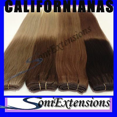 EXTENSIONES MECHA CALIFORNIANAS  Nº12/613    100%NATURAL100gr REMY HINDÚ 50X140