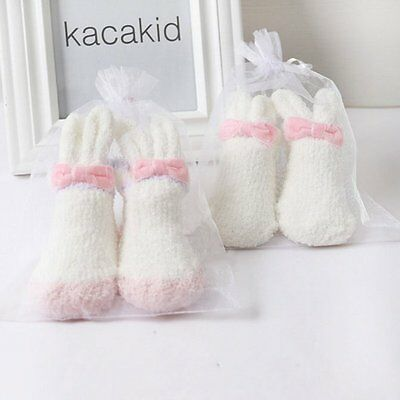 0-24M Baby Girls Thickening Coral Cashmere Cute Cartoon Rabbit Anti Slip Socks