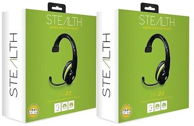 2 x Stealth SX-02 Wired Gaming Mono Chat Headset Xbox One Xbox 360 with adaptor