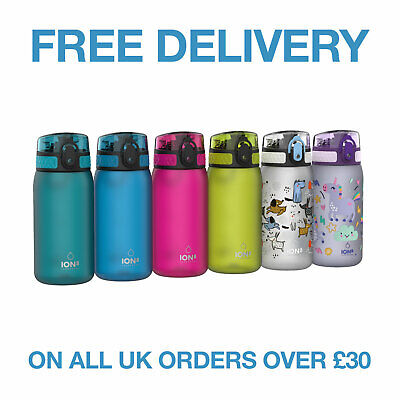 Ion8 Kid's Leak Proof BPA Free Lunchbox Water Bottle, Lockable Lid, 350ml
