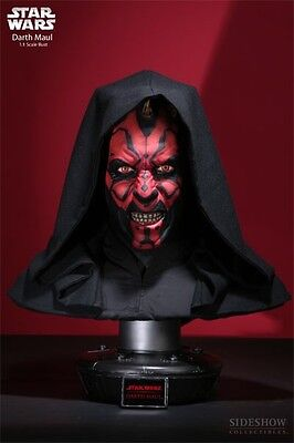 Darth Maul Bust Sideshow with Ray Park Signature