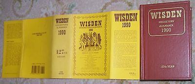 RARE Fine 1990 WISDEN Cricketers' Almanack Hard Back Book
