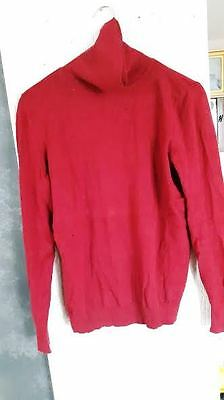 Pull col roulé rouge CAMAIEU Taille M NEUF