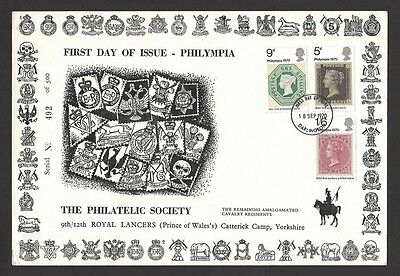 GB 1970 Philympia First Day Card 9th/12th Royal Lancers 500 issued