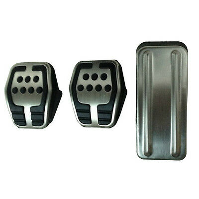 Ford FOCUS High Grip Racing Pedal Covers Rubber and Stainless Steel Custom Mod
