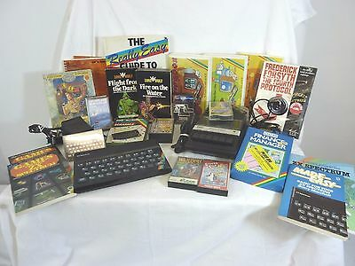 Vintage Zx Spectrum Computer, Tape Recorder & Selection Of Books & Games #cr#