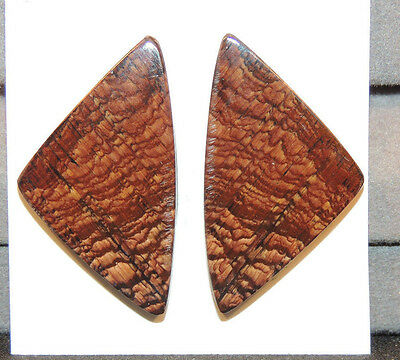 Biggs Jasper Cabochons 33x19mm set of 2  with 4mm dome (11694)