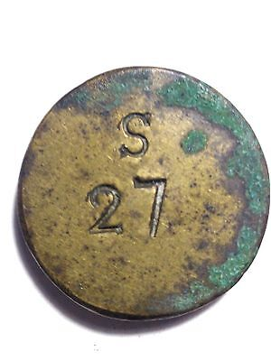 Coin Weight for Portuguese Moidore S27