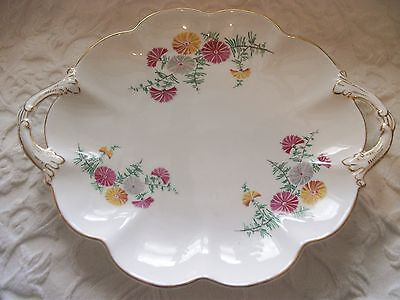 Crescent & Sons Vintage Twin Handled Bread & Butter/cake Plate