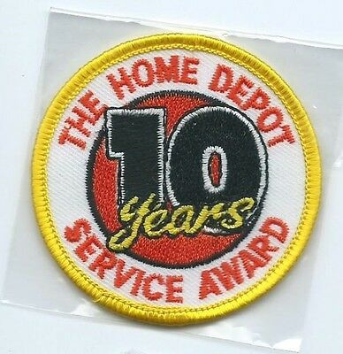The Home Depot 10 years service award employee patch 2-1/2 dia