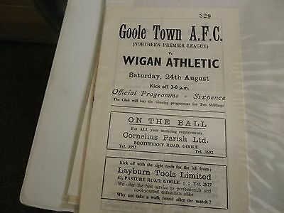 Goole Town   V    Wigan Athletic    24 Aug 1968