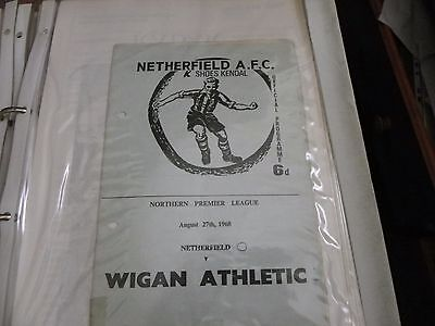 Netherfield    V    Wigan Athletic    27 Aug 1968
