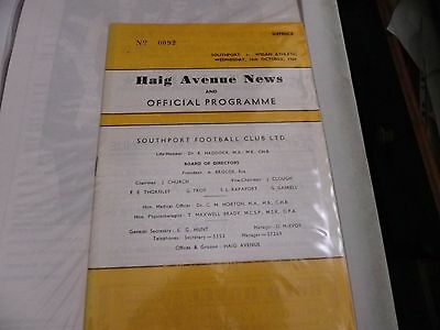 Southport   V     Wigan Athletic  16 Oct 1968