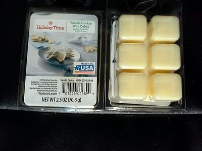Mainstays Scented Wax Cube Melts Candle 6 Cubes Pack Oil Burner VANILLA COOKIE