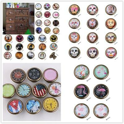 35mm Skull/ Flamingo Kitchen Door Drawer Handle Handles Knob Knobs Pull DIY