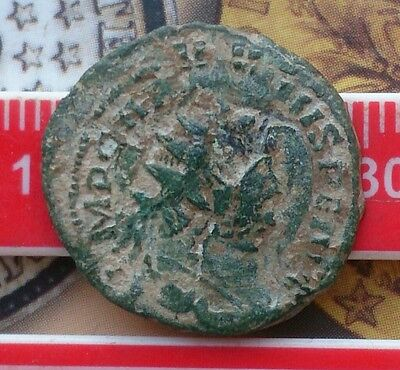 Carausius AE ant overstruck on another coin
