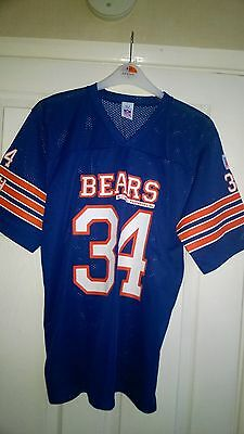 Navy officially licensed NFL 1980's Chicargo Bears No 34 souvenir mens top M