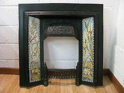 Antique Style Cast Metal Fireplace