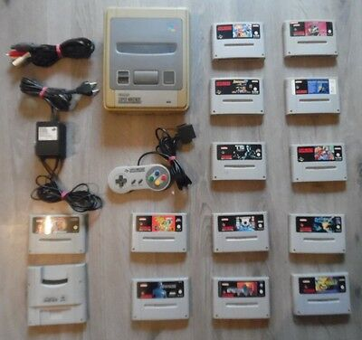 Super Nintendo SNES PAL  Original Controller Spiele Sammlung Super Gameboy