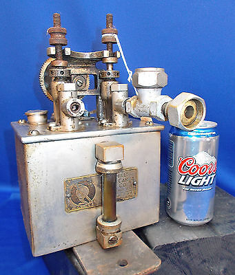 299 ~ HILLS McCANNA Force Feed Steam Engine, Machinery Oiler, 1900 Patent
