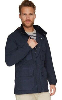 mens Navy barbour rig casual jacket size S