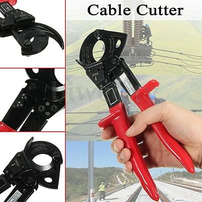 Ratchet Ratcheting Copper Cable Wire Cutter Cut Cutting Hand Tool Up To 240mm²