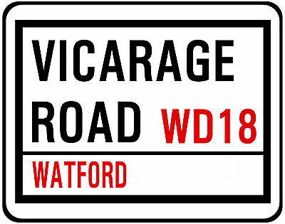 Watford F.c. Street Sign On Mouse Mat / Pad. Vicarage Road