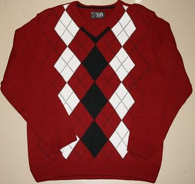 XG BOYS SWEATER - Pullover - V-neck - Red - black - Small - NWT - CLEARANCE -$44