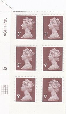 2014 5p Ash Pink Counter Sheet M14L.