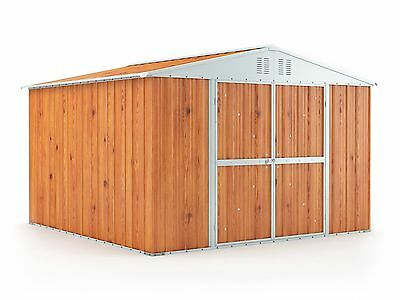 Garden Shed 3.07m x 3.07m x 2.17m Wood Finish 3x3 Storage Sheds Large Cheap NEW