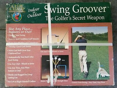 Club Champ Practice Golf Swing Groover Indoors Or Outdoors