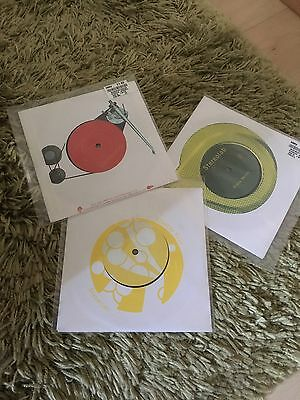 """Stereolab , A Collection Of Three 7"""" Singles , Unplayed"""