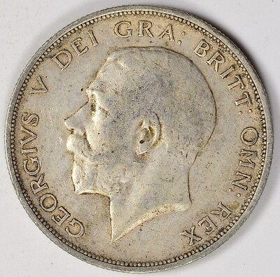 1914 Great Britain Silver 1/2 Crown