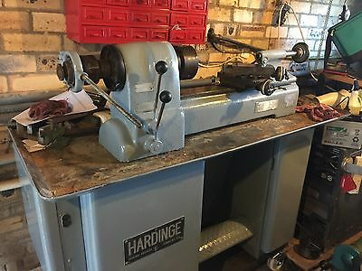 Hardinge Lathe With chuck, Compound Slide And Tailstock