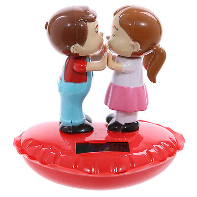 Novelty Solar Powered Kissing Couple Sweethearts , Dashboard Toy, Home Or Car