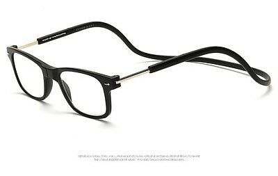 Reading Glasses Front Magnetic closure Hang from Neck Adjustable Black 1.5