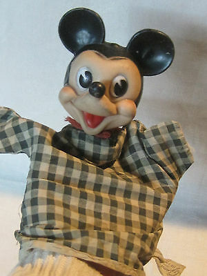 Vintage 1950s Walt Disney Mickey Mouse hand puppet by Gund