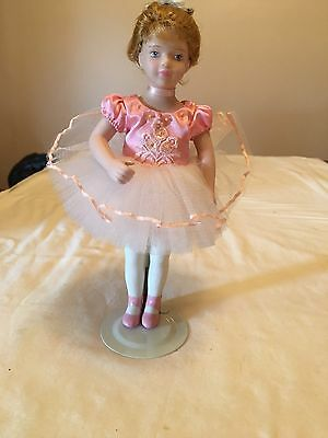 Avon Porcelain Ballerina Doll With Stand