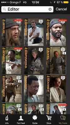 Topps the walking dead Editor choice full set with awards ( 3 waves )