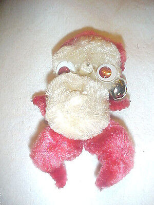 Santa Clause 1940's Chenille Stem  Pin Jingle Bell and Google Eyes Vintage